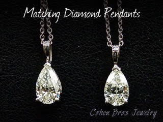Cohen Bros Jewelry NY Matching Diamond Pendants